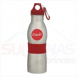 Squeeze de Inox 600ml Com Mosquetão - 8529